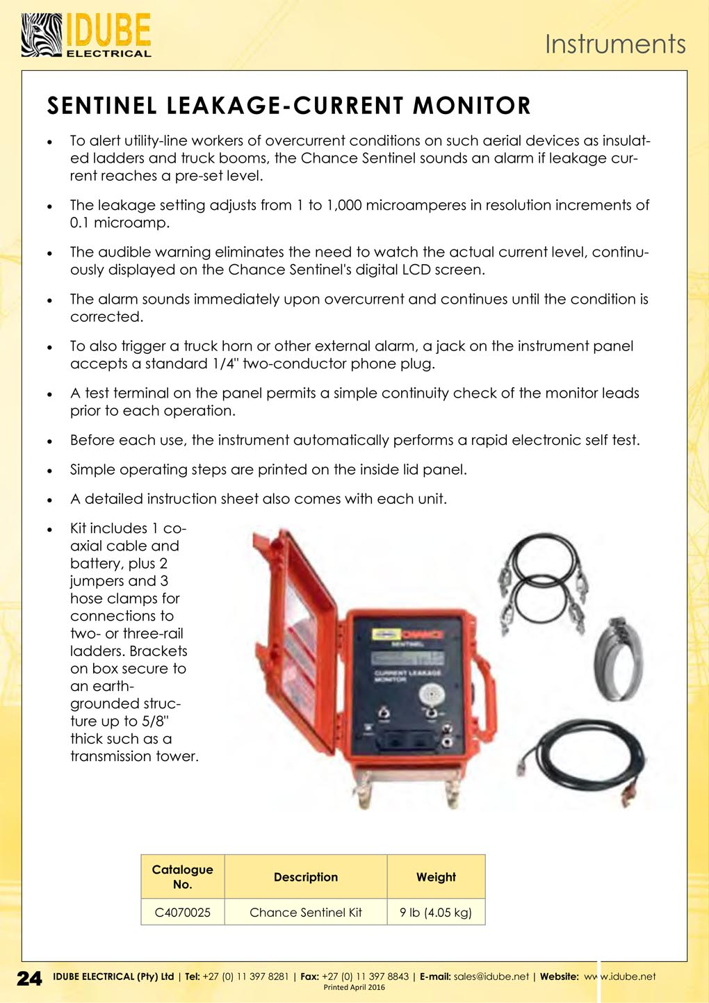 Chance Voltage Indicator : Instruments idube electrical