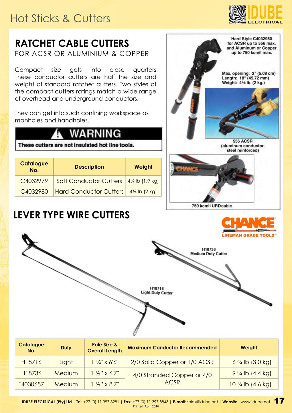 CHANCE Cable & Wire Cutters - 1020 x 1442