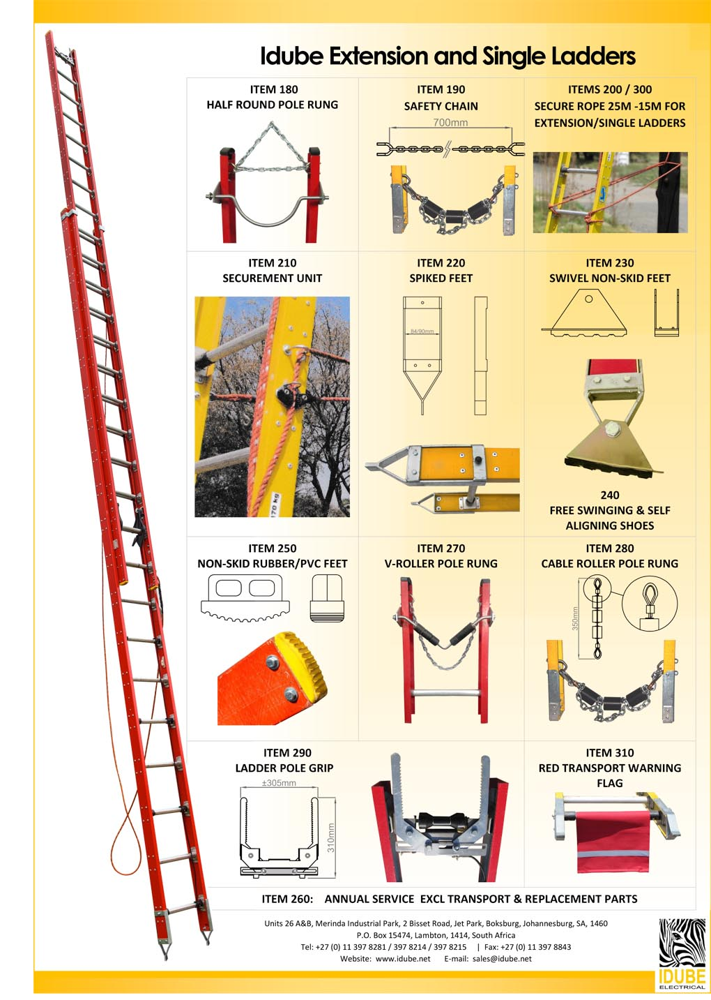 Fibreglass Ladders Accessories - 1020 x 1433