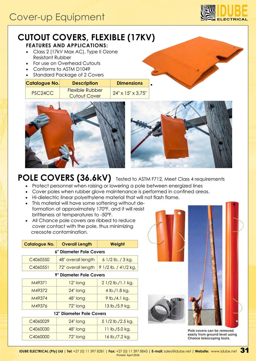 Cover Up Equipment Idube Electrical