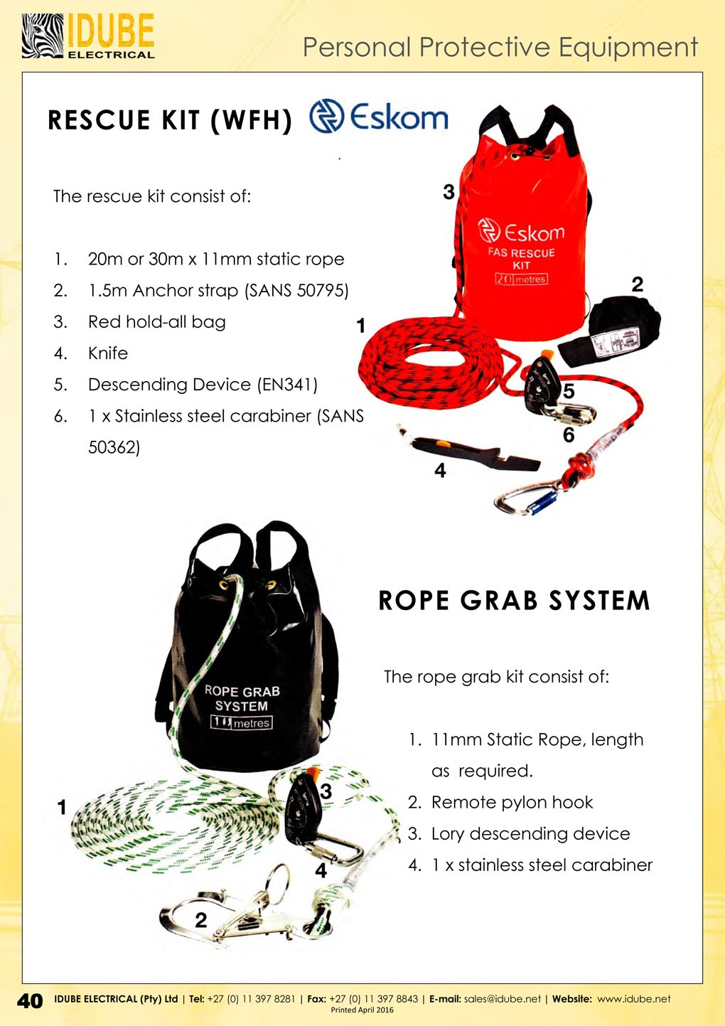 Idube Rescue Kit & Rope Grab System - 1020 x 1443