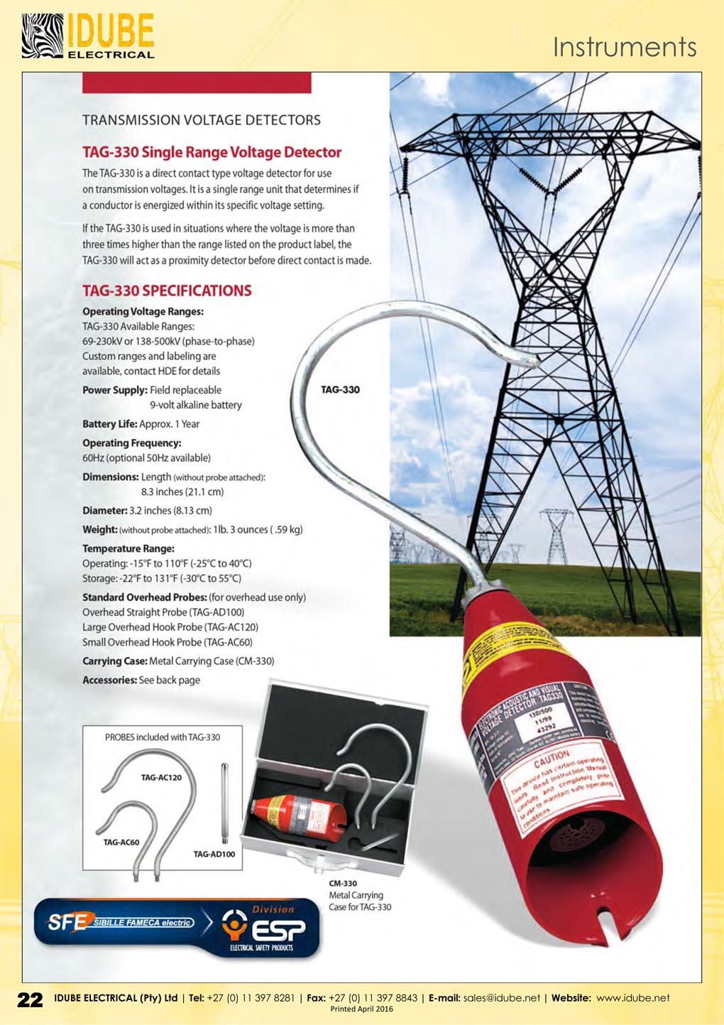 SFE TAG-300 Voltage Detector - 1020 x 1443